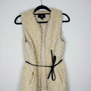 H&M Faux Fur Vest Size XS